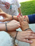 Matching bracelets for girls night at Coach House